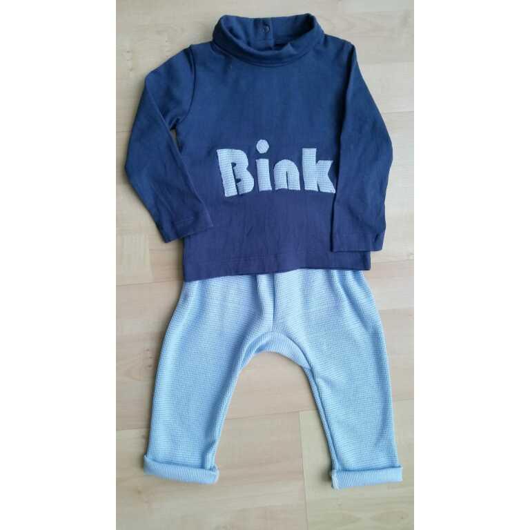Zus en Zo Zelfgemaakt - baby set van t-shirt en broekje -
