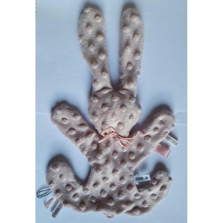 Zus en Zo Zelfgemaakt - Super zacht knuffel konijn (in verschillende kleuren) -